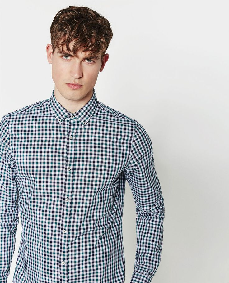 TWO-TONE GINGHAM SHIRT