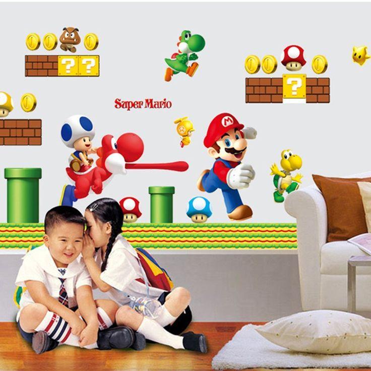 Schön Super Mario Wanddekoration   Wandaufkleber