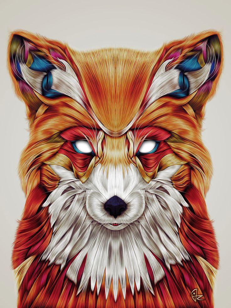 """Firefox"" digital painting by Giulio Rossi https://goo.gl/rsA67T"