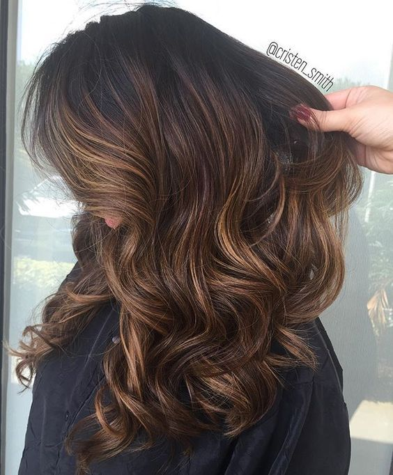25 best ideas about balayage on black hair on pinterest - Balayage braun caramel ...