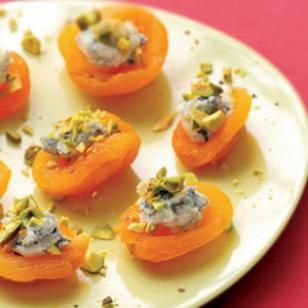 """""""Apricot Canapes""""- I love blue cheese and fruit! """"These sweet and savoury bites are like a cheese course in a bite."""" - Eatingwell.com"""