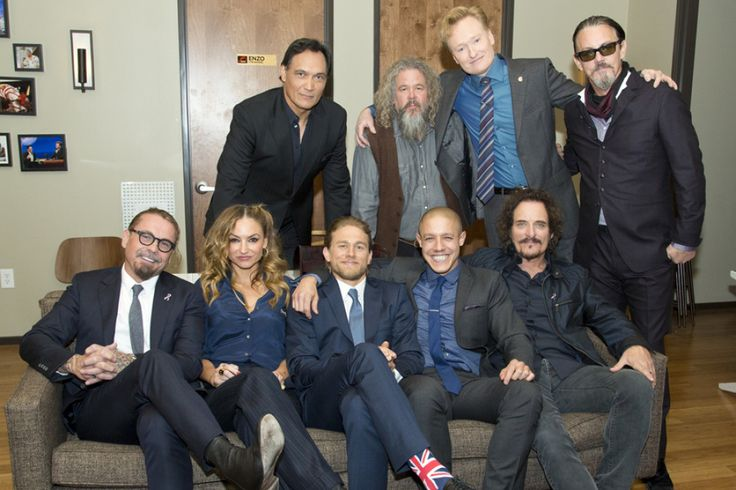 "The ""Sons Of Anarchy"" Cast Snap A Photo With Conan After The Show, 11-11-14"