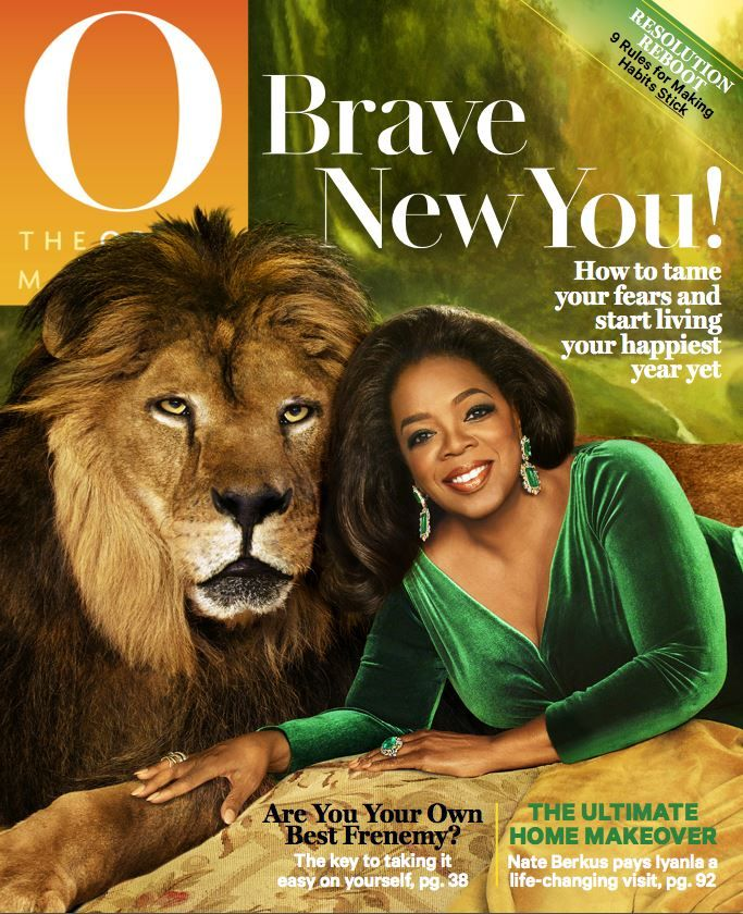 For the January cover, Oprah Winfrey took a walk on the wild side! Find the issue on newsstands next Tuesday, 12/9.