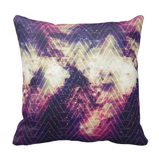 #Purple #Nebula #Star White #Geometric #Chevron #Pattern #pillow #homedecor @girly_road