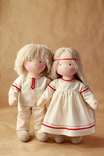 Вальдорфская игрушка ручной работы. Ярмарка Мастеров - ручная работа. Купить Ванечка и Манечка, вальдорфские куклы. Handmade. Вальдорфская кукла