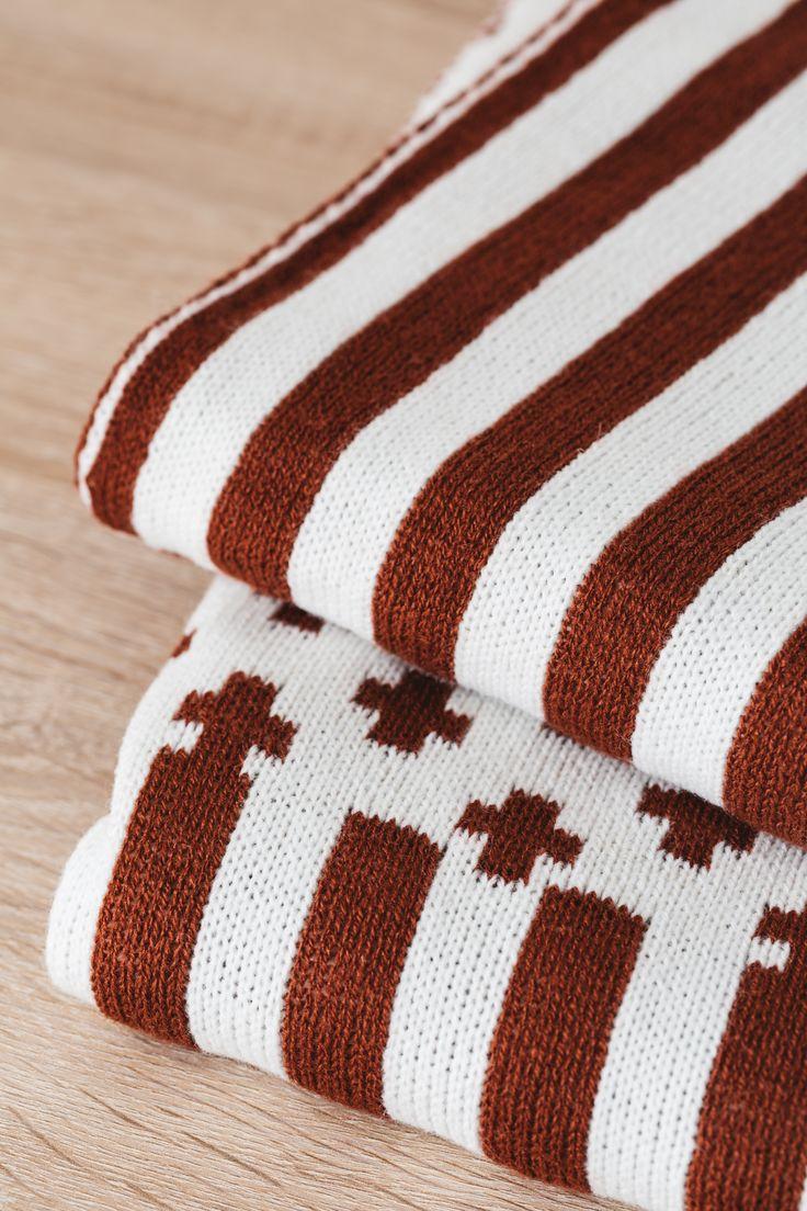 Terracota Knitted Blanket