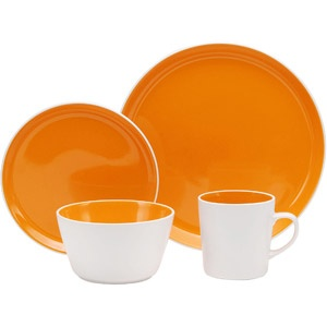 Oneida Color Burst 16-Piece Dinnerware Set, Assorted Colors