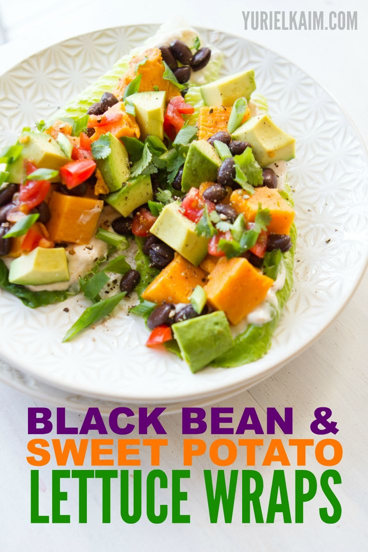 MAKE THIS FOR DINNER TONIGHT! Simple and quick, these Black Bean & Sweet Potato Lettuce Wraps are insanely yummy!