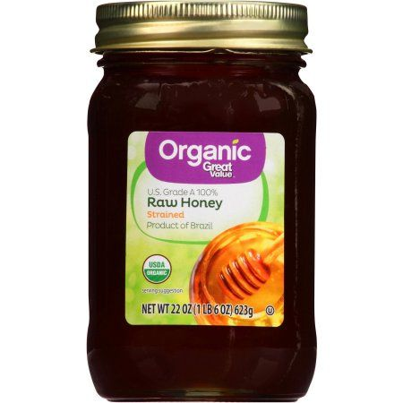 Great Value Organic Raw Honey, 22 oz