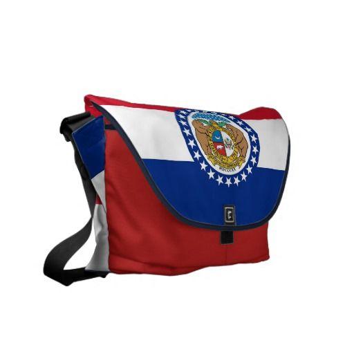 Missouri State Flag Rickshaw Messenger Bag