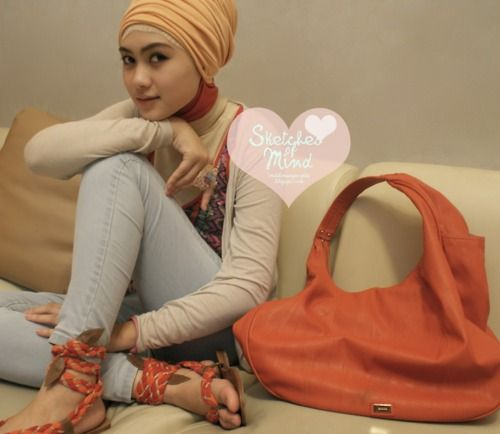 Indah Nada Puspita - simple turban - hijab style