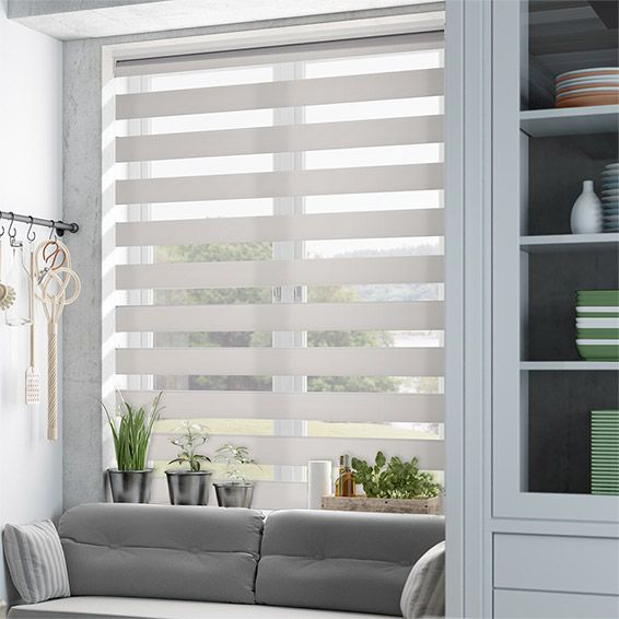 Enjoy vision soft grey roller blind from blinds 2go for Window shades for homes