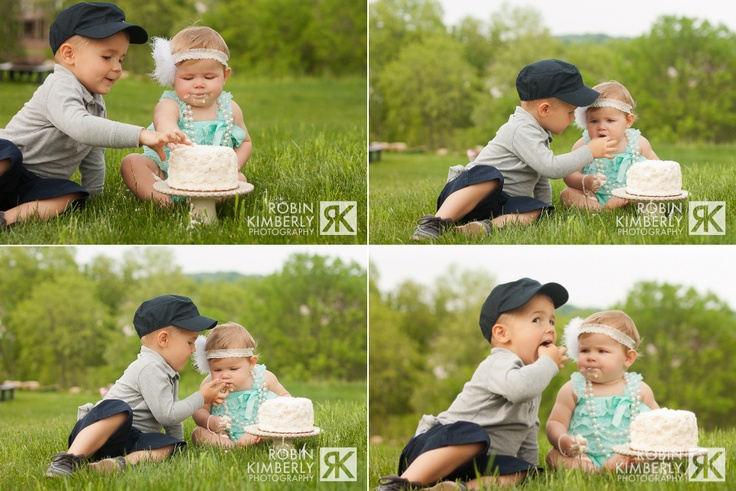 sibling cake smash  http://www.facebook.com/robinkimberly