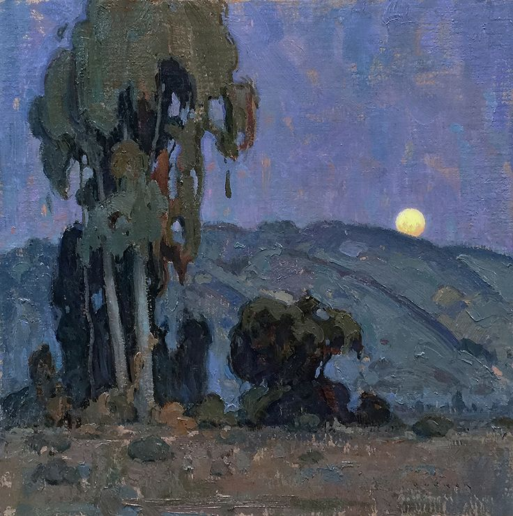 Twilights's Brief Moment by Eric Bowman Oil ~ 18 x 18