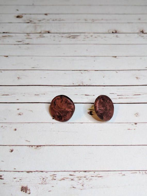 $4 burnt copper studs Check out this item in my Etsy shop https://www.etsy.com/listing/522708625/large-studs-burnt-copper