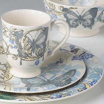 Alice Drew Collage Hummingbird 4-piece Dinnerware Place Setting by #Lenox