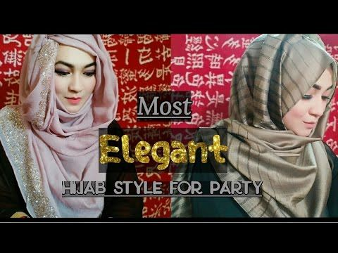 Most Elegant way to wear Hijab for Party | Pari ZaaD ❤