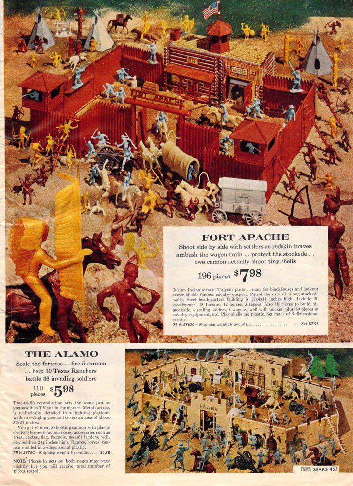 1962 Sears Christmas Catalog ~ Fort Apache & The Alamo Toy set
