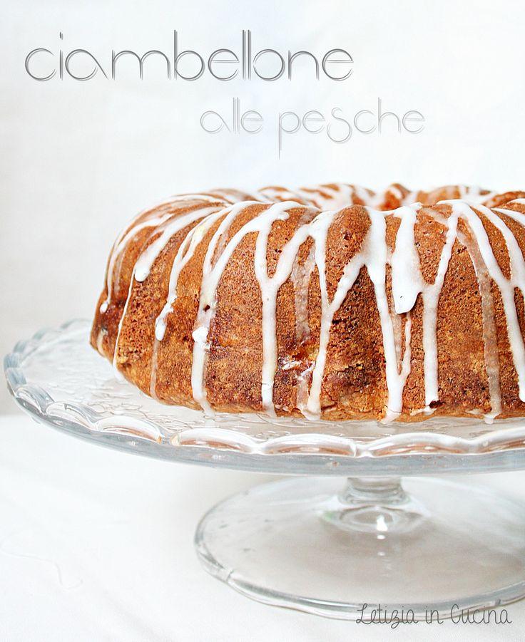 Ciambellone alle pesche - peach bundt cake