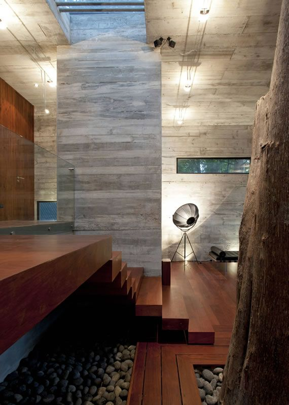 texture! The Corallo House by PAZ Arquitecture, on a hillside forest area in Guatemala City: merging nature and architecture.