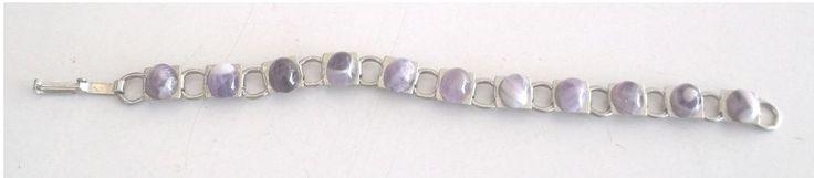 """Bracelet Lavender 11 Stones Silver Colored 7""""    #unbranded"""