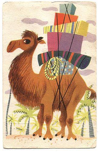 Mary Blair Golden Books postcard by grickily, via Flickr