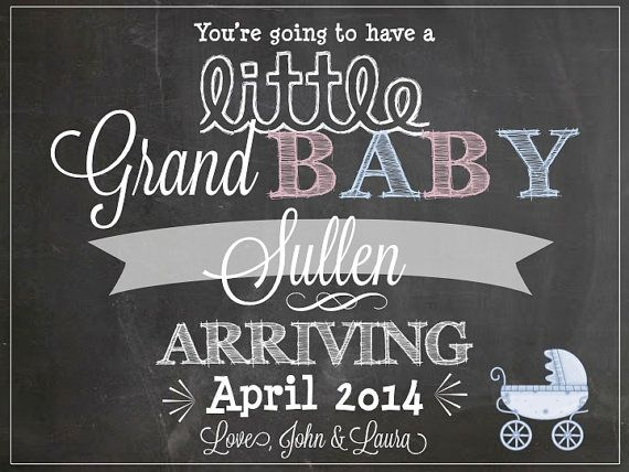 1000 images about Announcing Ideas – Baby Announcement for Grandparents