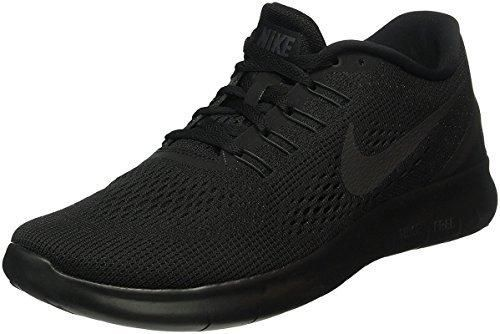 Nike Men's Free Rn Black/Black/Anthracite Running Shoe 10 Men US