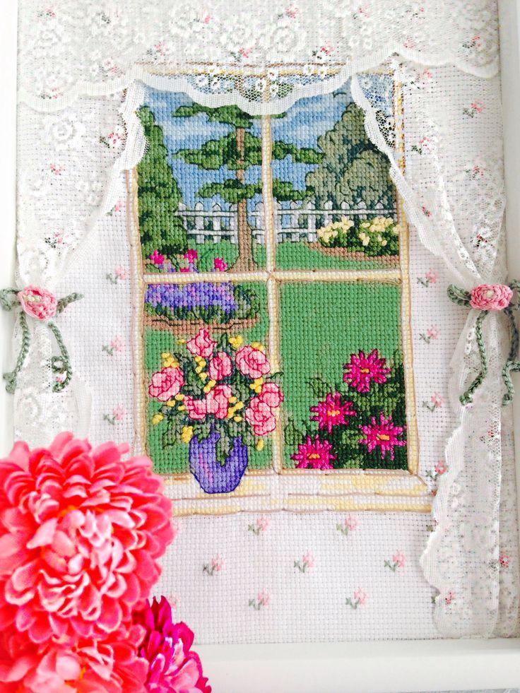 Cross stitch windows