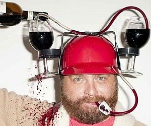 The soda and beer drinking helmet...  http://wicked-gadgets.com/soda-drinking-helmet/  #beer #helmet #drinking