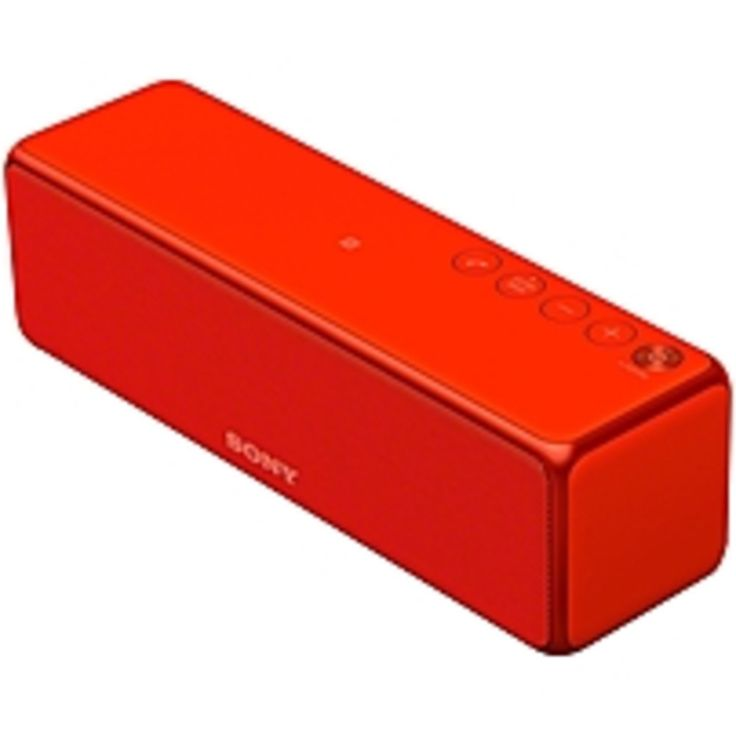 Sony h.ear go SRS-HG1 Speaker System - 24 W RMS - Portable - Battery Rechargeable - Wireless Speaker(s) - Red - 20 Hz - 20 kHz - Wireless LAN - Bluetooth - USB - DLNA Certified - Advanced Audio Coding (AAC), Lightweight, Internet Radio, Wireless Audio Str