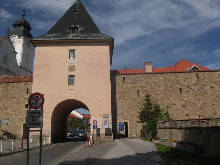 Gate of the old town in Levoca, Slovakia  http://www.centraleasteurope.com/slovakia/levoca.htm