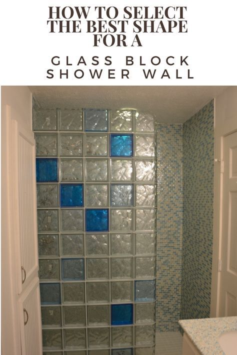 Lovely How To Select The Best Shape For A Glass Block Shower Wall Design Inspirations