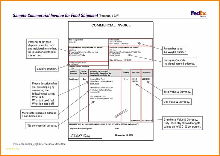 Sample Commercial Invoice For Jewelry Shipment No Commercial Value