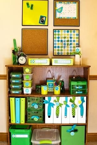 Organize your magazine holders with ribbons and tags.