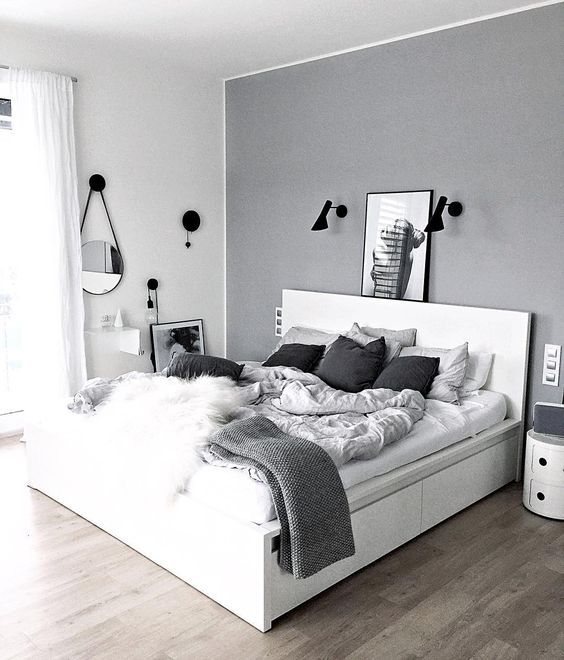 Bedroom Interior Design Black And White Bedroom Ceiling Design In India Wall Decor For Mens Bedroom Sherwin Williams Bedroom Paint Ideas: 25 Black And White Bedrooms Interior Design Trends For