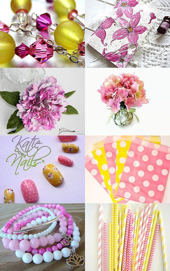 Pinky Dink Yellow by Brensan Studios on Etsy--Pinned with TreasuryPin.com