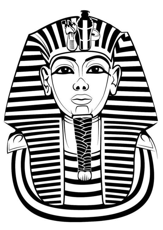Coloring page Tutankhamun - coloring picture Tutankhamun. Free coloring sheets to print and download. Images for schools and education - teaching materials. Img 24740.