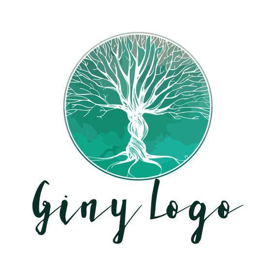 Conception de logo sur mesure, la nature arbre feuilles logo, logo de l