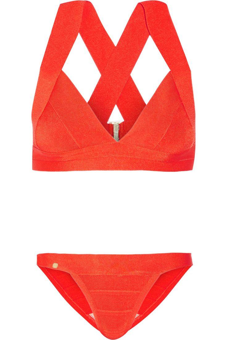 Hervé Léger   Summer bandage bikini   NET-A-PORTER.COM