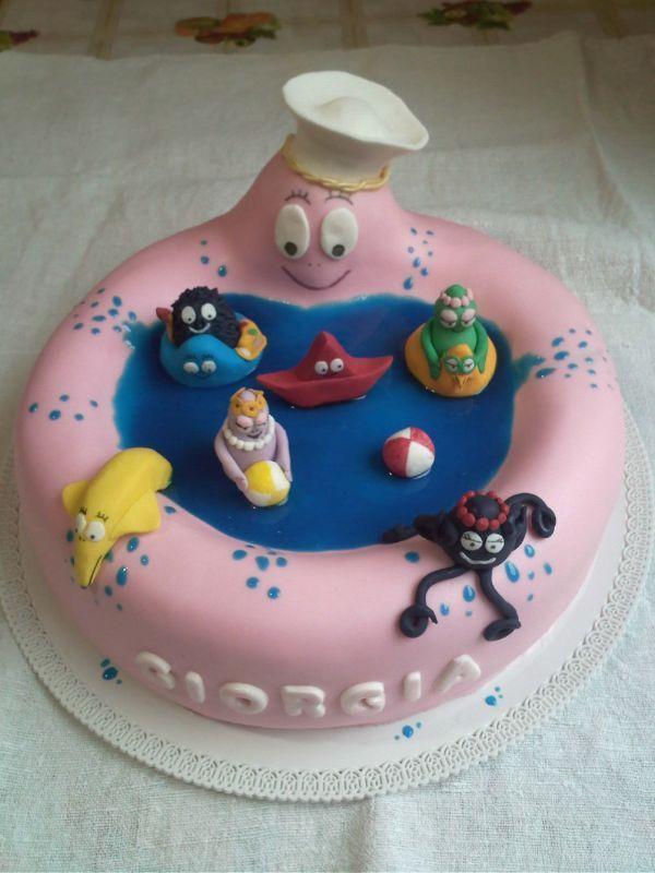 Barbapapa Barbamama Birthday cake taart. Meer Barbapapa spullen zijn te vinden op www.vanallesvan.nl