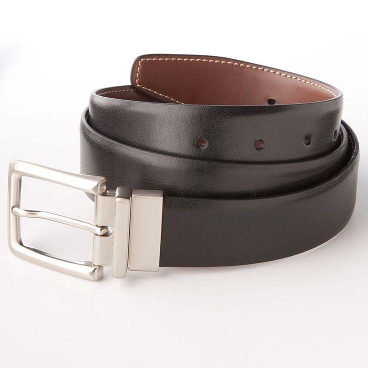 Croft & Barrow® Reversible Dress-To-Casual Faux-Leather Belt, Men's, Size: 42, Black