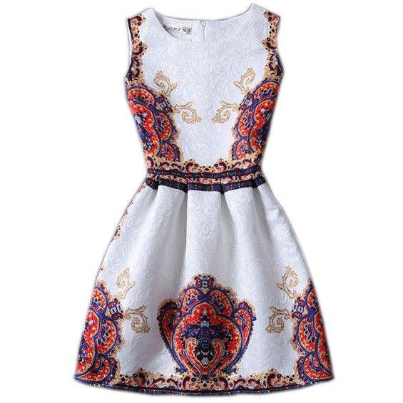 Pattern Jacquard Dress