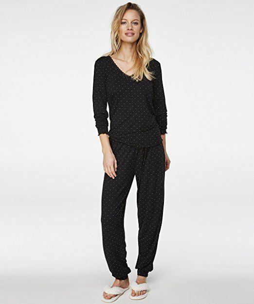 ac4c1d1364 Hunkemöller Damen Pyjama Jersey 129509:- pyjama pyjamas frauen unterwäsche  pyjamas womens pyjamaparty ideas pyjamaparty