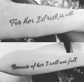 Mother Daughter Tattoos : This is   my daughters and my alley!!!!!!!!