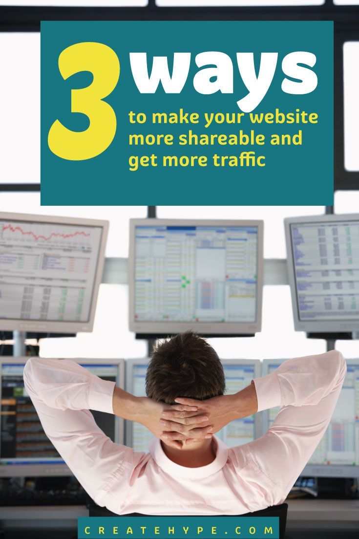 If you want to get more traffic, one of the best actions visitors to your website can take is to share it with their friends. Is your website shareable?