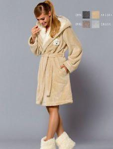 peignoir-Luxe-femme-doux-confort-capuche-ABI-L-amp-L-Pillou-Polaire-qualite-taille-M