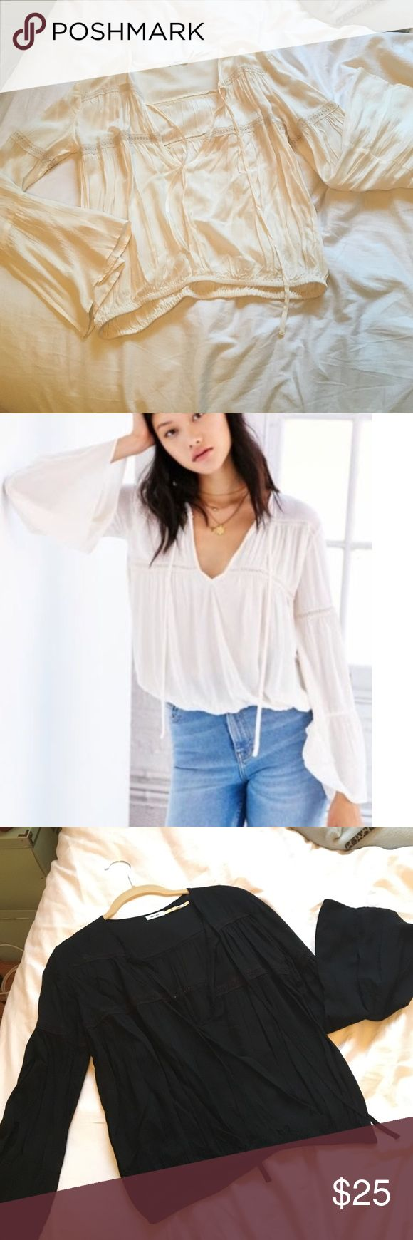 Urban Outfitters Peasant Blouse UO white peasant blouse - belle sleeves and cute embroidery details - I have one in black and one in white! Urban Outfitters Tops Blouses