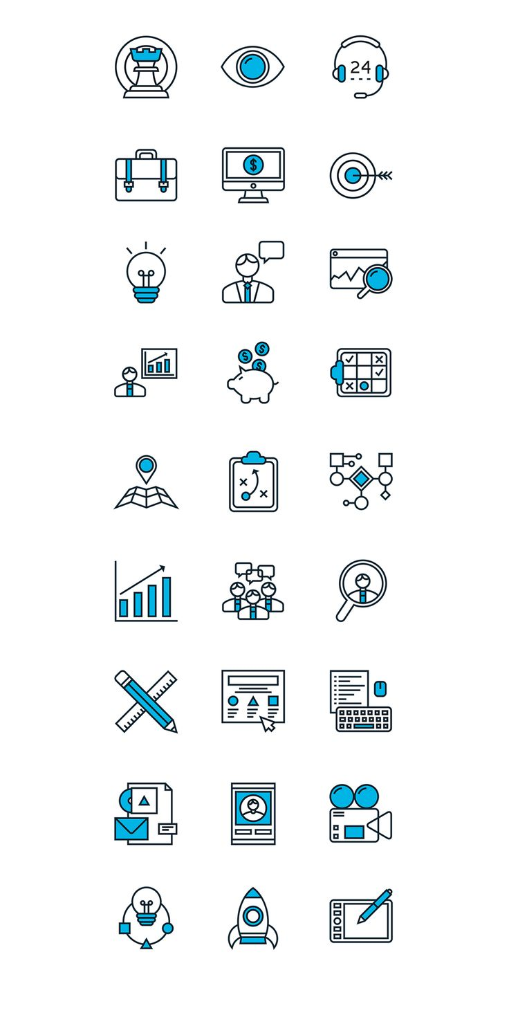 Marketing & Development Line Icons Set on Behance