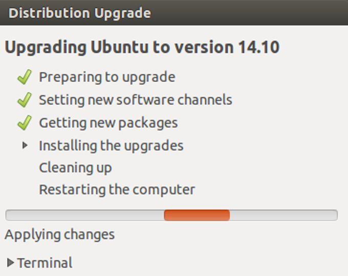 Upgrading Ubuntu to version 14.10 (Utopic Unicorn)